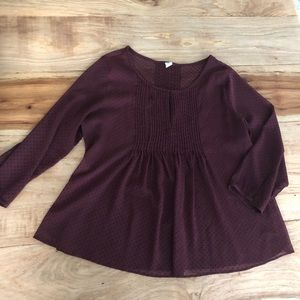 Maroon women's blouse